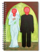 The Blushing Bride And Groom Spiral Notebook