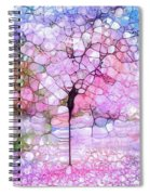 The Blushing Tree In Bloom Spiral Notebook