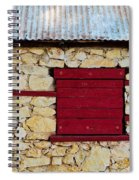 The Boarded Red Window Spiral Notebook