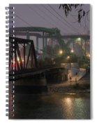 The Boardwalk At Dusk Spiral Notebook