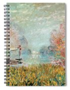 The Boat Studio On The Seine Spiral Notebook