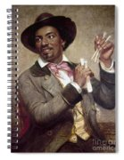 The Bone Player, 1856 Spiral Notebook