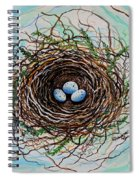 The Botanical Bird Nest Spiral Notebook