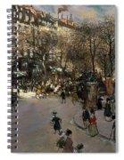 The Boulevard Des Italiens Spiral Notebook