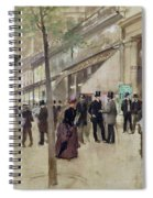 The Boulevard Montmartre And The Theatre Des Varietes Spiral Notebook