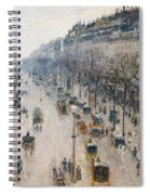 The Boulevard Montmartre On A Winter Morning, 1897  Spiral Notebook