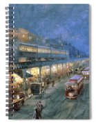 The Bowery At Night Spiral Notebook