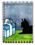 The Box Is Mine - Christmas Cat Spiral Notebook
