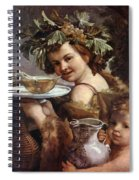The Boy Bacchus 1620 Spiral Notebook