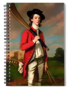 The Boy With A Bat - Walter Hawkesworth Fawkes Spiral Notebook
