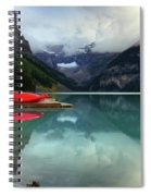 The Breathtakingly Beautiful Lake Louise Banff National Park Spiral Notebook