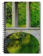 The Bridge Across The Pond Spiral Notebook