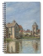 The Bridge And Mills Of Moret Sur Loing Spiral Notebook