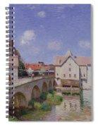 The Bridge At Moret Spiral Notebook