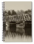 The Bridge At Washingtons Crossing Spiral Notebook