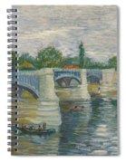 The Bridge Of Courbevoie, Paris Spiral Notebook