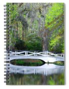 The Bridges In Magnolia Gardens Spiral Notebook