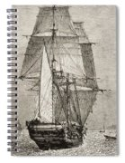 The Brig Hms Beagle From Journal Of Spiral Notebook