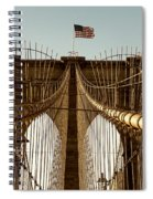 The Brooklyn Bridge Flag Spiral Notebook