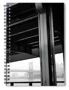The Brooklyng Bridge And Manhattan Bridge From Fdr Drive Spiral Notebook