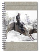 The Bull Rider Spiral Notebook