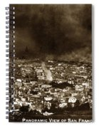 The Burning Of San Francisco Panoramic View Of San Francisco From Twin Peaks April 1906 Spiral Notebook