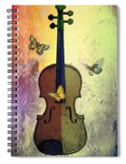The Butterflies And The Violin Spiral Notebook