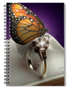 The Butterfly And The Engagement Ring Spiral Notebook