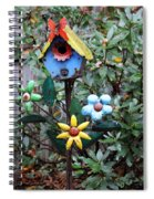 The Buttlerfly Landed Spiral Notebook