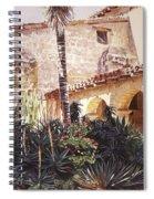 The Cactus Courtyard - Mission Santa Barbara Spiral Notebook