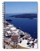 The Caldera, Santorini Spiral Notebook