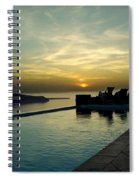 The Caldera View In Santorini Spiral Notebook
