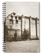 The Campanario, Or Bell Tower Of San Gabriel Mission Circa 1880 Spiral Notebook