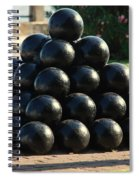 The Cannonballs At The Battery In Charleston Sc Spiral Notebook