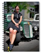 The Car Hop And The Street Rod Spiral Notebook