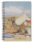 The Caravan, An Arab Encampment At Edfou Spiral Notebook