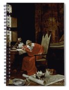 The Cardinal's Leisure  Spiral Notebook