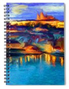 The Castle And The River Spiral Notebook