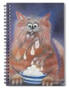 The Cat Who Got The Cream Spiral Notebook