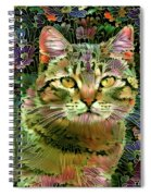 The Cat Who Loved Flowers 1 Spiral Notebook