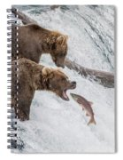 The Catch - Brown Bear Vs. Salmon Spiral Notebook