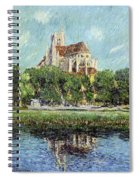 The Cathedral At Auxerre Spiral Notebook