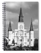 The Cathedral - Bw Spiral Notebook