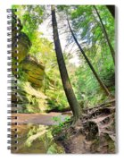 The Caves And Trail At Old Man's Cave Hocking Hills Ohio Spiral Notebook