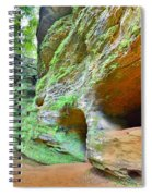 The Caves At Old Man's Gorge Trail Hocking Hills Ohio Spiral Notebook