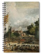 The Celebration In East Bergholt Of The Peace Of 1814 Concluded In Paris  Spiral Notebook