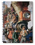 The Ceremony Of The Golden Spike On 10th May Spiral Notebook