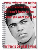 The Champ Muhammad Ali  Spiral Notebook