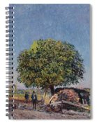 The Chestnut Tree At Saint-mammes Spiral Notebook