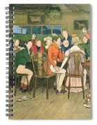 The Christmas Dinner At The Inn Spiral Notebook